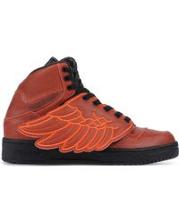 Jeremy Scott for Adidas   purple Wing-Detailed Leather High-Top Sneakers   Lyst