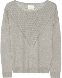 Band Of Outsiders Silk and Cashmere-Blend Sweater - Lyst