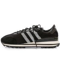 Y-3 Rhita Sneakers - Black/Black/White - Lyst