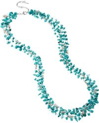 Kenneth Cole - Turquoise Chip Multi-Row Necklace - Lyst