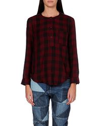 Etoile Isabel Marant Ipa Cottontwill Top Burgundy - Lyst