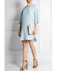 Sonia By Sonia Rykiel Ruffled Silk Crepe De Chine Mini Dress - Lyst