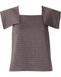 Fernanda Yamamoto Quilted Jersey Top - Lyst