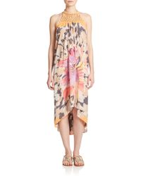 Ramy Brook Ali Silk Floral-Print Dress - Lyst