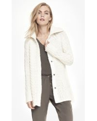 Express Mixed Stitch Trapeze Sweater Coat - Lyst