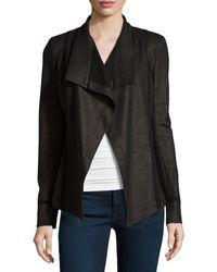 Donna Karan New York Solid-trim Open Jacket - Lyst