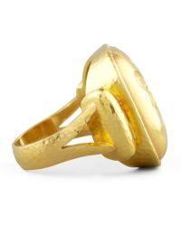 Elizabeth Locke - 19k Gold Bee Cushion Ring - Lyst