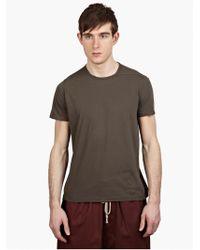 DRKSHDW by Rick Owens Men'S Grey Cotton T-Shirt brown - Lyst