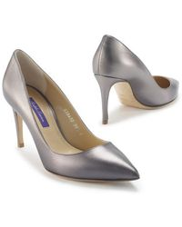 Ralph Lauren Collection Metallic Nappa Armissa Pump - Lyst