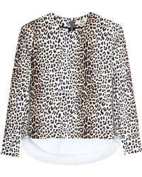 Rika Leopard Print Rita Top Blouse - Lyst