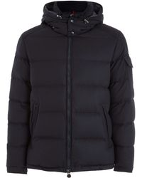 Moncler - Navy Montgenevre Hood Flannel Down Jacket - Lyst