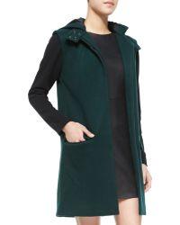Waverly Grey - Mia Felt Colorblock Hooded Coat - Lyst
