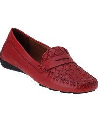 Robert Zur Petra Penny Loafer French Red Leather - Lyst
