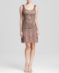 Sue Wong Dress - Soutache Drop Waist Fringe - Lyst