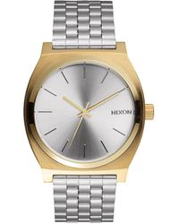 Nixon   Time Teller Silver Watch   Lyst