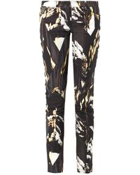 Kenzo Mountains-Print Mid-Rise Skinny Jeans - Lyst