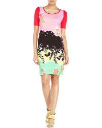 Love Moschino Garden Print Dress - Lyst