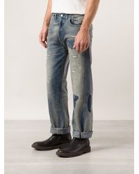 Levi's Blue Straight Jeans - Lyst