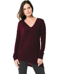 Feel The Piece Stealth Top With Thumbholes In Acai Berry - Lyst