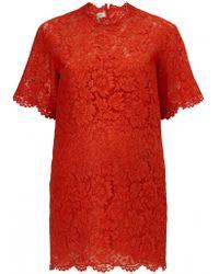 Valentino Lace Tunic Dress - Lyst