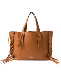 Valentino C-Rockee Leather Tote - Lyst