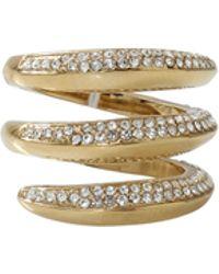 Michael Kors Circle Stone Ring gold - Lyst