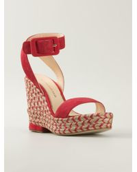 Paloma Barceló Weaved Wedge Sandals - Lyst