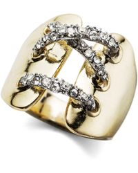 Alexis Bittar Crystal Mosaic Corseted Ring - Lyst