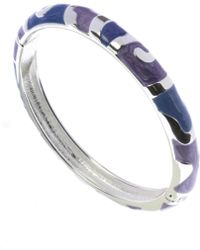 Indulgence Jewellery - Lilac And Blue Round Bangle - Lyst