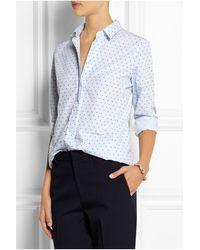 Jil Sander Fil Coupé Cotton Shirt - Lyst