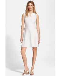 Tory Burch Eyelet Fit & Flare Dress - Lyst