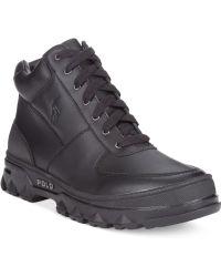 Polo Ralph Lauren Black Harwich Boots - Lyst