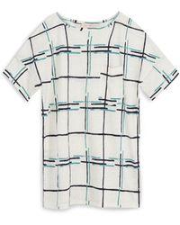 Tory Burch Linen Jersey T-Shirt - Lyst