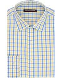 Kors By Michael Kors Regular Fit Gingham Check Dress Shirt - Lyst