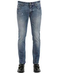 Dolce & Gabbana 17Cm Gold Fit Washed Soft Denim Jeans - Lyst