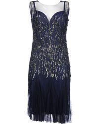 Alberta Ferretti Knee-Length Dress blue - Lyst