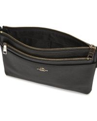 COACH - Swingpack Black Leather Cross-Body Bag - Lyst