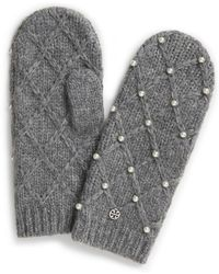 Tory Burch - Pearl Cable Mitten - Lyst
