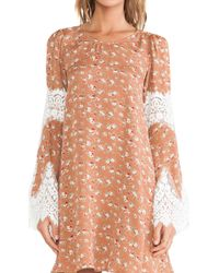 For Love & Lemons Floral Festival Dress - Lyst
