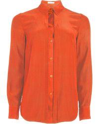 Matthew Williamson Orange Silk Shirt - Lyst