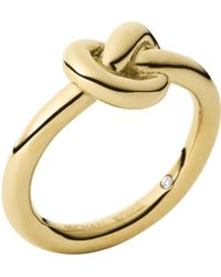 Michael Kors Smooth Knot Ring - Lyst