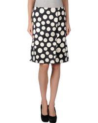 Celine Knee Length Skirt - Lyst