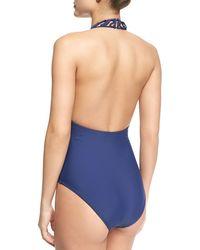 Meskita - Cutout Halter One-piece Swimsuit - Lyst