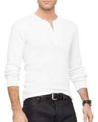 Ralph Lauren Black Label Pima Cotton Henley - Lyst