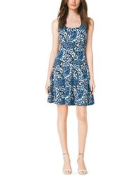 Michael Kors Paisley-Print Flared Dress - Lyst