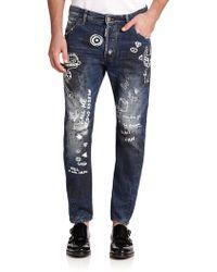 DSquared² Kenny Twist Slim-Fit Jeans - Lyst