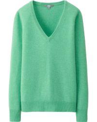Uniqlo | Women Cashmere V Neck Sweater | Lyst