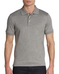 Saks Fifth Avenue Black Label Ice Cotton Polo Shirtslim-fit - Lyst
