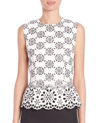 Marc Jacobs | Embroidered Peplum Top | Lyst