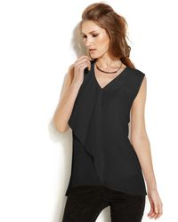 Vince Camuto Sleeveless Ruffle Top - Lyst